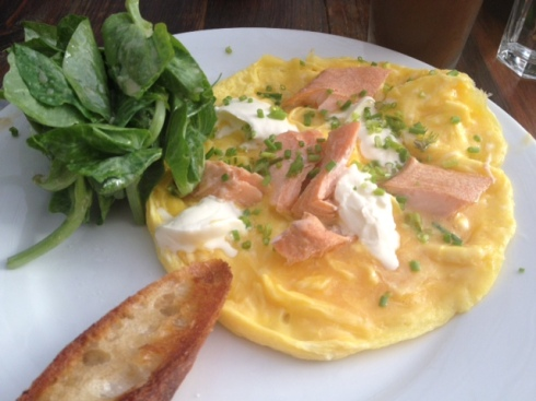 Smoked Trout Omelette at Littleneck