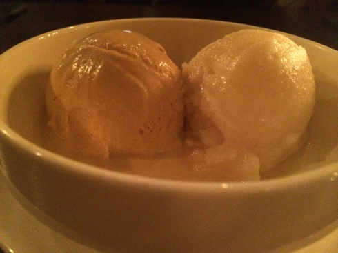 Molasses Ice Cream & Lemon Sorbet