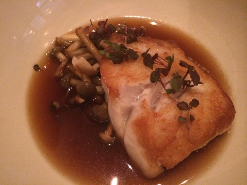 The tilefish with mushrooms at Vinegar Hill House in Vinegar Hill.